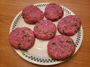 raw Low Carb Jalapeno Cheddar Burgers