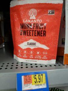 Monkfruit sweetener in store