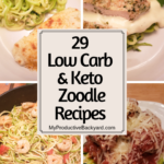 zoodle recipe collage