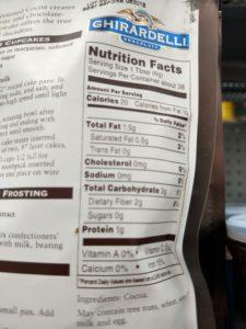 Baking Cocoa label