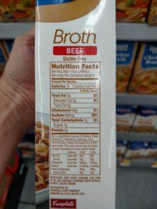 Swanson Broth label
