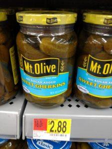 Mt Olive No Sugar Added Sweet Gherkins