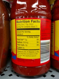 Louisiana Hot Sauce label