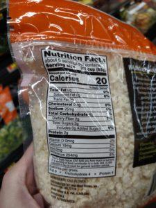 Chopped Cauliflower label