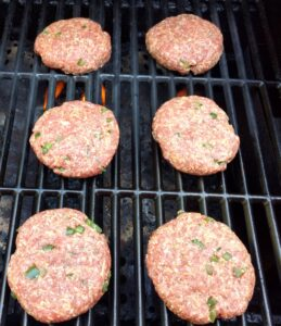 Low Carb Jalapeno Cheddar Burgers on the grill
