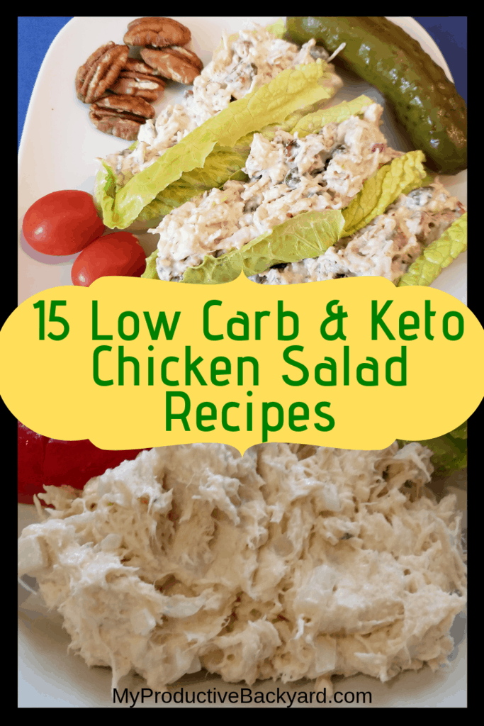 Low Carb Keto Chicken Salad Recipes collage