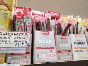 Chomps Snack Sticks; beef or turkey