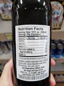 Virgil's Zero Root Beer label