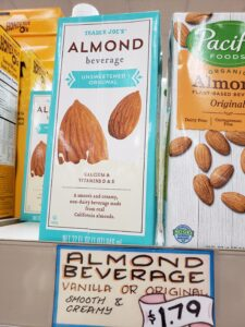 Almond Beverage unsweetened original
