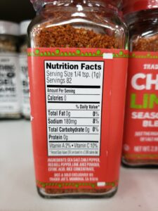 Chile Lime Seasoning Blend label