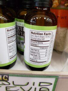 Organic Liquid Stevia label