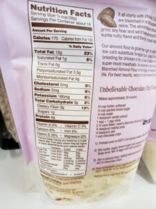 Baker Josef's Blanched Almond Flour label