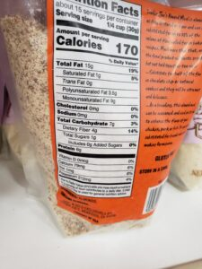 Just Almond Meal label