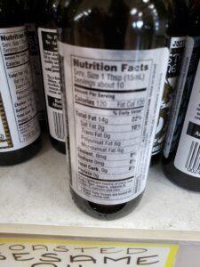 Toasted Sesame Oil label