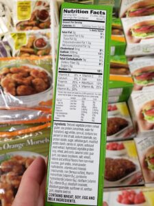 Morning Star Veggie Breakfast Sausage Links label