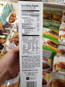 Meatless Breakfast Patties label