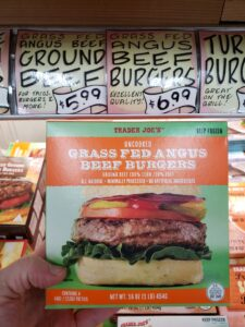 Uncooked Grass Fed Angus Beef Burgers