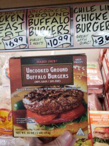 Uncooked Ground Buffalo Burgers