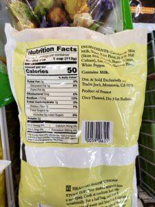Mashed Cauliflower label