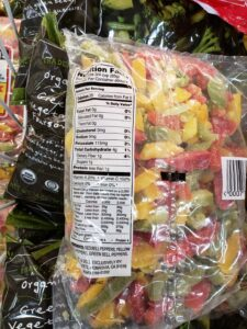 Red, Yellow & Green Peppers label