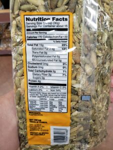 Pumpkin Seeds label