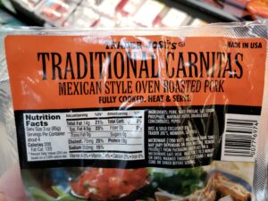 Traditional Carnitas label