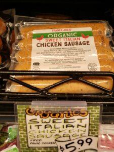 Organic Sweet Italian Chicken Sausage