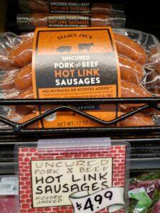 Uncured Pork & Beef Hot Link Sausages