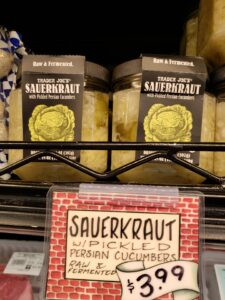 Sauerkraut with Pickled Persian Cucumbers