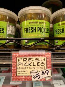 Sonoma Brinery Fresh Pickles Manhattan Style