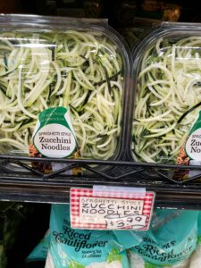 Spaghetti Style Zucchini Noodles