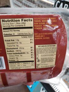 Uncured Turkey Bacon label
