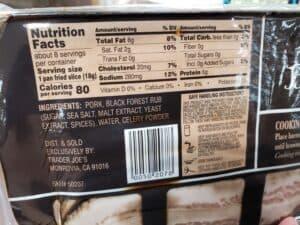 Uncured Black Forest Bacon label