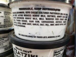 Tzatziki Creamy Garlic Cucumber Dip label
