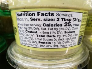Avocado Tzatziki Dip label