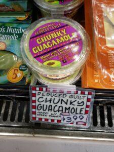 Reduced Guilt Chunky Guacamole made with Greek Yogurt