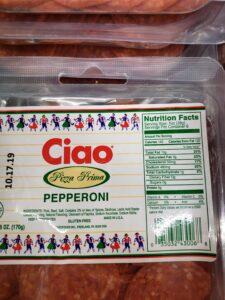 Ciao Pepperoni label