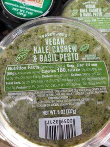 Vegan Kale, Cashew & Basil Pesto label