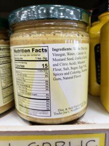 Aioli Garlic Mustard Sauce label