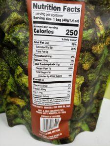 Crispy Crunchy Broccoli Florets label
