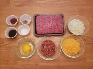 ingredients for Best Low Carb Burgers