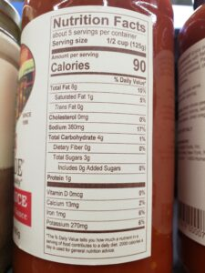 Rao's Homemade Marinara Sauce label