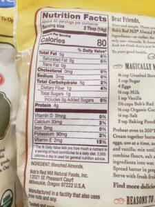 almond flour label
