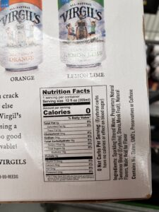 Virgil's Zero Sugar: Root Beer label