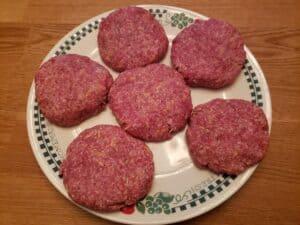 Low Carb BBQ Cheddar Burgers raw