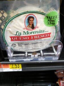 La Morenita Queso Fresco crumbling cheese