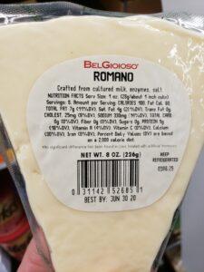 BelGioioso; Romano label