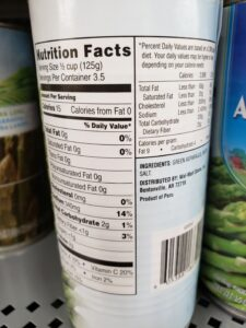 canned Asparagus label