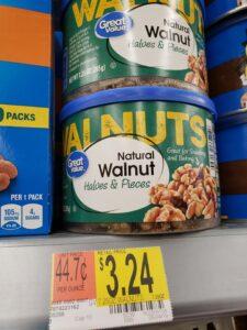 Great Value Natural Walnut Halves & Pieces