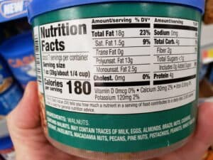 Great Value Natural Walnut Halves & Pieces label